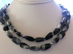 Vintage NecklaceBlack Grey and White  Light by AprilSnowJewelry, $12.00