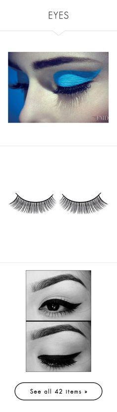 """""""EYES"""" by amplebeauty ❤ liked on Polyvore featuring beauty products, makeup, eye makeup, false eyelashes, beauty, eyes, gel eyeliner, gel eye liner, backgrounds and halloween"""