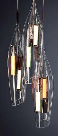 design pendant lamp (blown glass) TULIP liternity