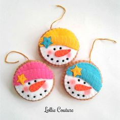 Items similar to Snowman Felt Ornament – Christmas Decorations – Felt Ornaments – Snowman felt Christmas Cookies – Christmas Ornaments – Felt Cookie Ornament on Etsy - DIY and Crafts Mini Christmas Stockings, Felt Christmas Ornaments, Handmade Christmas, Christmas Crafts, Christmas Cookies, Etsy Christmas, Christmas Nativity, Snowman Ornaments, Modern Christmas