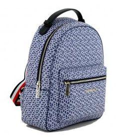 !!!Damenrucksack Tommy Hilfiger Iconic Backpack Monogram blau Tommy Hilfiger Damen, Fashion Backpack, Monogram, Backpacks, Artificial Leather, Sachets, Shoulder, Handbags, Blue