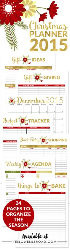 2015 Christmas Planner - Everything you need to organize your holidays!