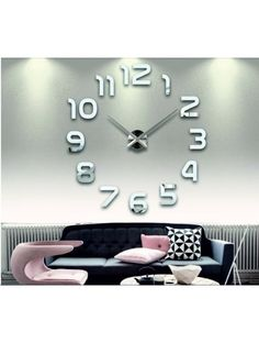 Wall clock for every wall - LAZARE Reference:  12S002-SILVER-S-COLOR** Condition:  New product  Availability:  In Stock  Choose a color by yourself! The time has come much more cozy realít new clock. 3D large wall clock is a beautiful decoration of your interior. You'll never be late.