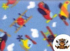 Airplane Fleece Fabric