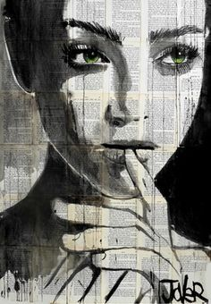 """Saatchi Online Artist Loui Jover; Drawing, """"undine"""" /explore/newspaper/"""