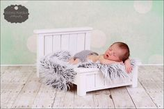 Newborn Bed Photo Photography Prop - American Doll 18 inch doll Bed