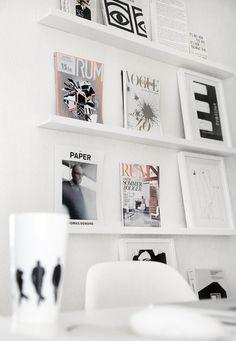 #Deco #Organisation #Home #Rangement 10 idées originales pour ranger ses magazines.