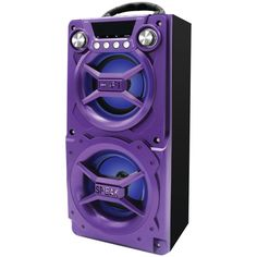 SYLVANIA SP328-PURPLE Bluetooth(R) Speaker with Speakerphone (Purple)