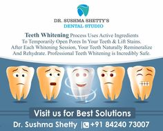 #TeethWhitening is Among The Most Popular Cosmetic Dental Procedures Because It Can Greatly Improve How Your Teeth Look Professional Teeth Whiteners are Safe, Effective, and Done under the Supervision of a Dental Professional.  For Appointment :+91 84240 73007 Vakola, Santacruz  #DrSushmaShettyDentalStudio #ToothWhitening #Dentalclinic #CosmeticDentistry #DentistinVakola #teethWhitener #DentistinVakola #Santacruz Teeth Whiteners, Dental Cosmetics, Dental Procedures, Cosmetic Dentistry, Active Ingredient, Facebook Sign Up, Whitening, Popular