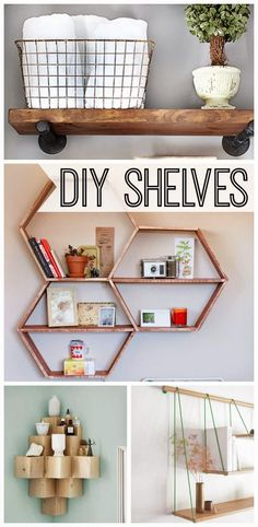 Craft Project Ideas: 10 Stylish DIY Shelves