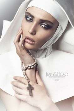 High-Fashion Nun Photography - The Il Desiderio Segreto Image Series by Jean Osipyan is Religious (GALLERY)
