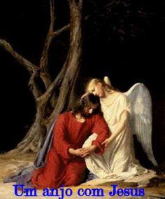 Jesus é com um anjo