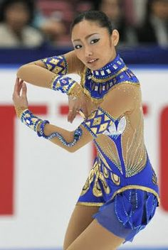Miki Ando, Blue Figure Skating / Ice Skating dress inspiration for Sk8 Gr8 Designs