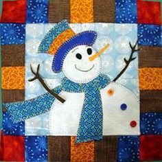 Free Snowman Quilt and Quilt Block Patterns This would make a cute mug rug
