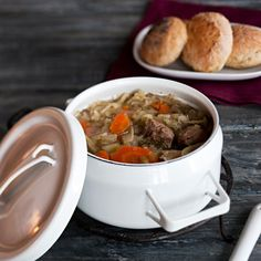 Clear, thick and flavourful Russian-origin soup made with white cabbage, root vegetables, stock and spices. Root Vegetables, Bon Appetit, Cabbage, Oatmeal, Spices, Food And Drink, Soup, Beef, Breakfast