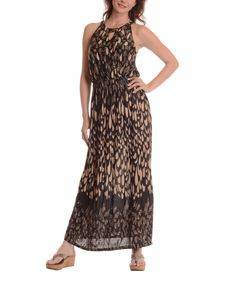 Look what I found on #zulily! Coffee Abstract Maxi Dress by Shoreline #zulilyfinds