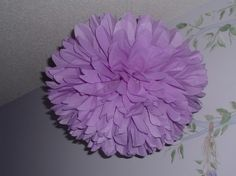 Check out this item in my Etsy shop https://www.etsy.com/listing/50282938/two-lilac-tissue-paper-poms-pom-poms