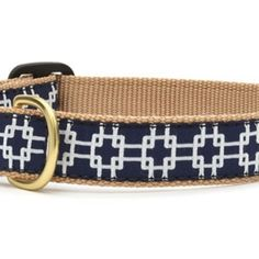 Gridlock Dog Collars & Leashes.  This adorable ribbon dog collar is made in the USA, adjustable and has a matching leash available!