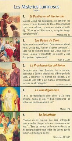 misterios del rosario - Buscar con Google Praying The Rosary Catholic, Catholic Prayers In Spanish, Rosary Prayer, Catholic Religion, Holy Rosary, God Prayer, Prayer Board, Blessed Mother, Spiritual Inspiration