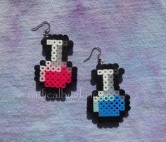 Health and Mana Potion Earrings  Perler Bead by RADICALbyGlamzar