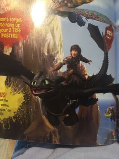 Who knew that Hiccup could stand on Toothless and balance himself like he is surfing.