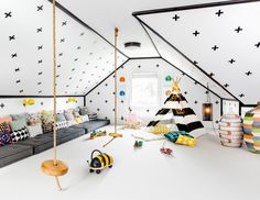 Dit fantastische familiehuis op the Hamptons, New York heeft een speelkamer waar menig kind (en volwassene...) jaloers op zou zijn!