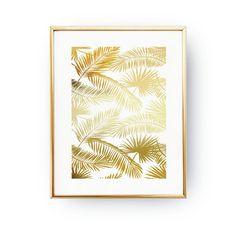 Palm Leaf Pattern Print Botanical Leaf Print by LovelyPosters
