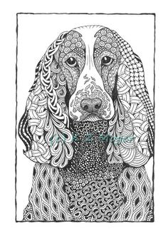 Large Breed Dog Portraits more large breeds matted print Dog Coloring Page, Free Adult Coloring Pages, Colouring Pics, Animal Coloring Pages, Coloring Books, Mandalas Painting, Mandalas Drawing, Mandala Original, Doodle Art Designs