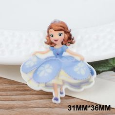 50pcs 31*36MM Cartoon Character Princess Flatback Resin For Hair Bows DIY Resin Craft For Home Decoration Accessories FR036