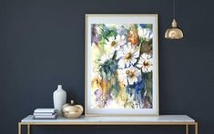Floral Watercolor Art Print For Her 8x10 art
