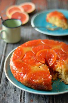 Grapefruit Upsidedown Cake