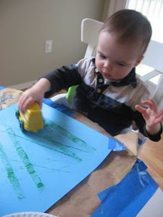 paint with toy cars!