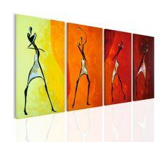Tableau design Danse des couleurs