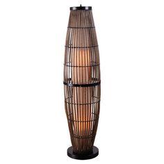 Indoor/outdoor rattan floor lamp.  Product: Floor lampConstruction Material: Rattan and metalColor: