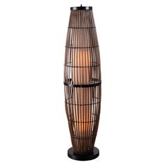 Indoor/outdoor rattan floor lamp.  Product: Floor lampConstruction Material: Rattan and metalColor: