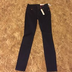 Charlotte Russe Dark Wash Skinny Jeans Size 8, never worn with tags, very soft Charlotte Russe Jeans Skinny