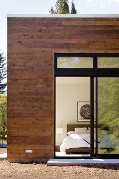 Inside Outside. Bedroom. Glass. Sliding Doors. Light. Home. Architecture. Design. Wood.