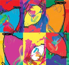 Art created by MOUSH inspired by Kids Art