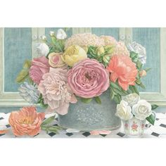 "Rosalind Wheeler Cottage Garden Painting Print on Wrapped Canvas Size: 8"" H x 12"" W x 0.75"" D"