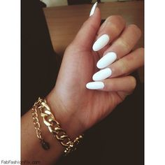 White Nails And Artistic Nail Styles 2