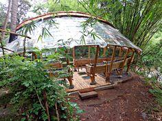 Green School Bamboo Aquaponics system made by Ibuku Gardens.