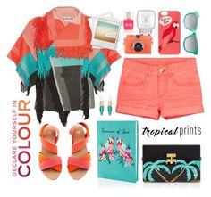 """Hot Tropics"" by cara-mia-mon-cher ❤ liked on Polyvore featuring Issey Miyake, Accessorize, Kate Spade, H&M, Red Camel, Edie Parker, Chanel, tropicalprints and hottropics"