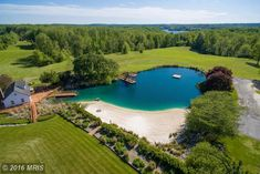 "sand bottomed 1 acre swimming ""pond"" with beach in MD."