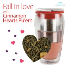 Cinnamon Hearts Pu'erh is a Steeped Tea top seller! This tea will leave the spice of cinnamon on your tongue.