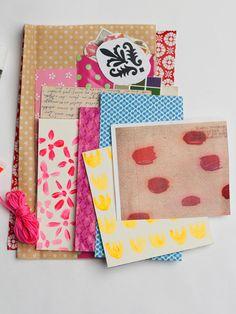 paper kit scrapbooking collage goods pack A5 art kits by eeliethel, $15.00
