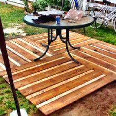 floating pallet deck plans   Pallet Deck Idea - Google Images