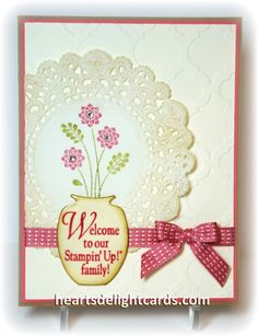 Another Downline Welcome by Cards4Ever - Cards and Paper Crafts at Splitcoaststampers