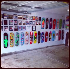 mount your skateboard decks in your garage!
