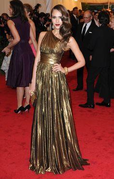 Jessica Alba - Met Gala 2012 / Photo by Keystone Press