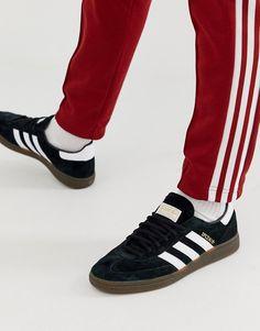 f3ca0df5576b adidas Originals Handball SPZL Sneakers Black With Gum Sole